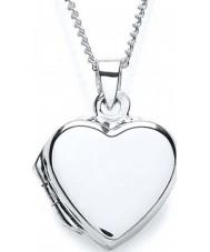 Purity 925 Ladies Locket Plain Heart Silver Necklace