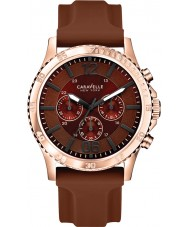 Caravelle New York 44A102 Mens Logan Brown Chronograph Watch
