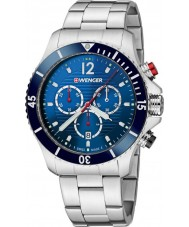 Wenger 01-0643-111 Mens Seaforce Silver Steel Chronograph Watch