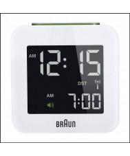 Braun BNC008WH-RC Global Radio Controlled Travel Alarm Clock - White