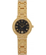 Krug-Baumen 5118DL Charleston 4 Diamond Black Dial Gold Strap