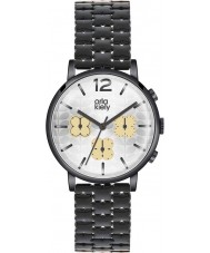 Orla Kiely OK4002 Ladies Frankie Chronograph Black IP Watch