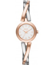 DKNY NY2172 Ladies Crosswalk Rose Gold Silver Watch