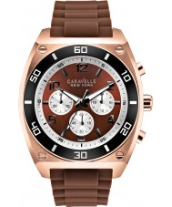 Caravelle New York 45A114 Mens Clark Brown Chronograph Watch