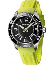 Wenger 01-0851-115 Mens Roadster Acid Green Silicone Straps Watch