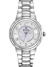 Bulova 96L169 Ladies Silver Diamonds Rosedale Watch