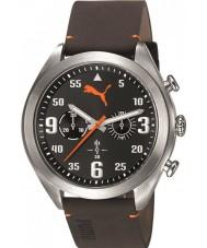 Puma PU103871001 Fame Brown Leather Strap Chronograph Watch