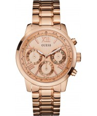 Guess Ladies Sunrise Rose Gold Plated Bracelet Watch
