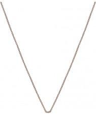 "Emozioni CH022 16-18"" Rose Gold Silver Plated Trace Chain"