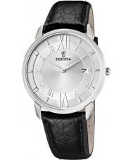 Festina F6813-1 Mens Black Leather Strap Watch