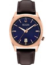 Bulova 97B133 Mens BA II Dark Brown Leather Strap Watch