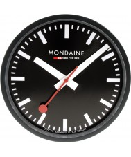 Mondaine A990-CLOCK-64SBB Black Metal Wall Clock