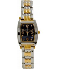 Krug Baümen 1965KL-T Ladies Tuxedo Black Gold Silver Watch
