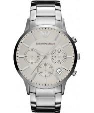 Emporio Armani AR2458 Mens Silver Multifunction Watch