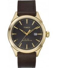 Timex TW2P77500 Mens Elevated Classic Brown Leather Strap Watch