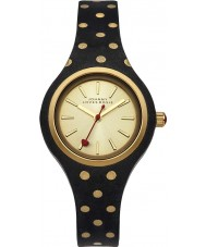 Johnny Loves Rosie JH016 Ladies Black and Gold Spots Watch