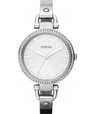 Fossil ES3225 Ladies Georgia Silver Watch
