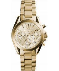 Michael Kors MK5798 Ladies Mini Bradshaw Gold Chronograph Watch
