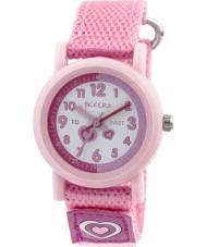 Tikkers TK0112 Girls Pink Nylon Strap Watch
