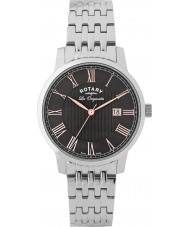 Rotary GB90075-04 Mens Les Originales Silver Steel Bracelet Watch