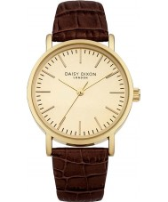 Daisy Dixon DD006TG Ladies Georgia Dark Brown Leather Strap Watch