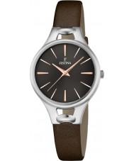 Festina F16954-3 Ladies Mademoiselle Brown Leather Bracelet Watch