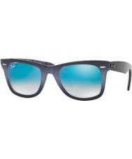 RayBan RB2140 50 Original Wayfarer Top Gradient Grey on Blue 11984O Blue Mirror Sunglasses