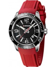 Wenger 01-0851-116 Mens Roadster Red Silicone Strap Watch