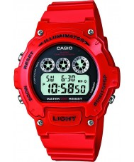 Casio W-214HC-4AVEF Collection Red Chronograph Watch