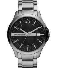 Armani Exchange AX2103 Mens Black Silver Bracelet Dress Watch