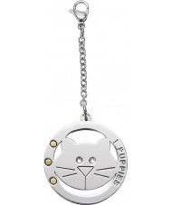 I Puppies PA-006 Cat Steel Crystal Medallion