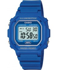 Casio F-108WH-2AEF Collection Blue Alarm Chrono Watch