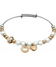 Emozioni DC130 Ladies Rose Gold Plated Bangle with Faux Mother of Pearl