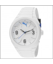 Puma PU103592002 Gummy White Silicone Strap Watch