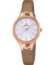 Festina F16956-1 Ladies Mademoiselle Brown Leather Bracelet Watch