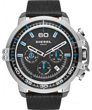 Diesel DZ4408 Mens Deadeye Black Leather Strap Watch