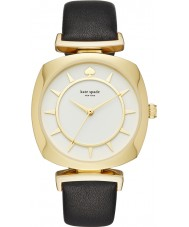 Kate Spade New York KSW1224 Ladies TV Case Black Leather Strap Watch