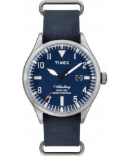 Timex TW2P64500 Mens Heritage Blue Leather Strap Waterbury Watch