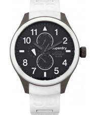 Superdry SYG110W Mens Scuba Multi White Silicone Strap Watch