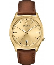 Bulova 97B132 Mens BA II Brown Leather Strap Watch