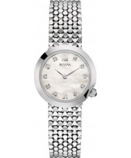 Bulova 96S163 Ladies Diamond Silver Steel Bracelet Watch