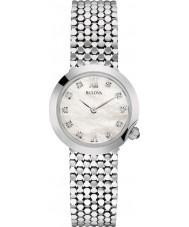 Bulova 96S163 Ladies Diamond Silver Steel Bracelet Watch