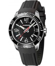 Wenger 01-0851-117 Mens Roadster Black Silicone Strap Watch