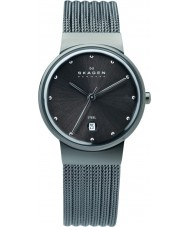 Skagen 355SMM1 Ladies Klassik Charcoal Steel Mesh Watch