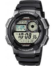 Casio AE-1000W-1BVEF Mens World Time Digital Black Watch