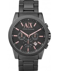 Armani Exchange AX2086 Mens Grey IP Chronograph Dress Watch