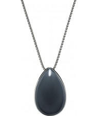 Skagen SKJ0668040 Ladies Sea Glass Silver Steel Necklace with Grey Stone