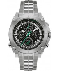 Bulova 96G241 Mens Precisionist Silver Steel Bracelet Chronograph Watch
