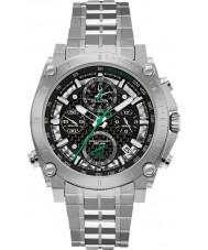 Bulova 96G241 Mens Precisionist Silver Steel Bracelet Chronograph Watch