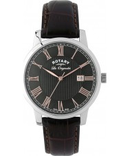 Rotary GS90075-04 Mens Les Originales Brown Leather Strap Watch